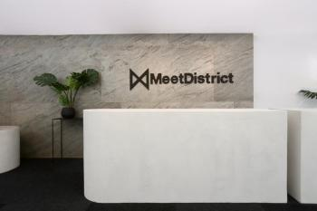 Meetdistrict and  Supernova investor pitching zone meetingrooms