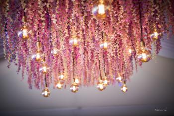 Huwelijk Kristallijn tent tuin bloemenplafond