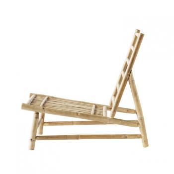 bamboo meubilair huren met ibiza vibe bohemian buitenbank en tafel met kussen