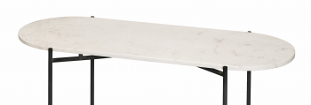 Staantafel Ruby met hout marmer terrazzo tafelblad rond of ovaal staantafel voor recepties elegant