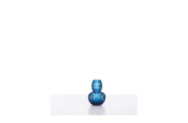 FÆK | Vase Retro blue - glas blauw - vaas - decoratie - faek - verhuur - evenementen - feest - rental - events