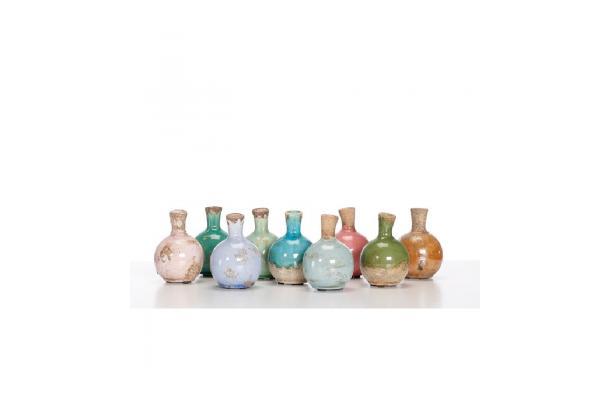 FÆK | Vase Stone Bottle assorted colors 1pcs - aardewerk - kruikje - kleurassortiment vaas - decoratie - faek - verhuur - evenementen - feest - rental - events