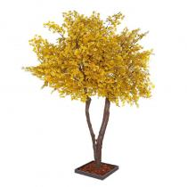 FÆK | Tree Ginkgo yellow two stems 400 - geel - tweestammig - boom - faek - verhuur - evenementen - feest - rental - events - artificieel - artificial